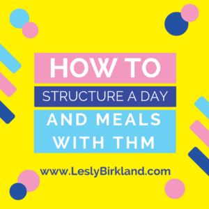 How to structure a day & meals with THM