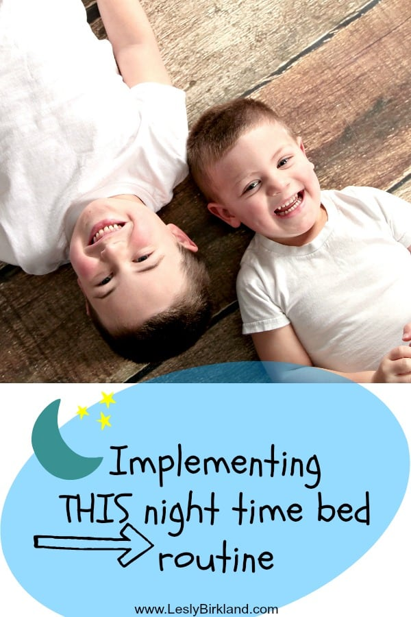 Implementing this night time routine with your kids – includes fun printables