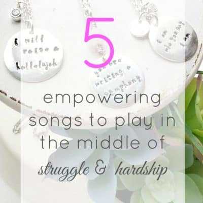 5 empowering songs to play in the middle of struggle and hardship